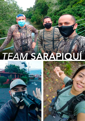 Team Sarapiqui birding on October Big Day